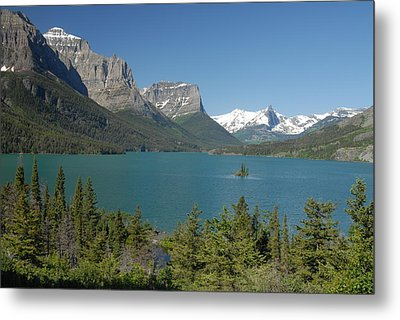 Inspiring View Of Glacier National Park Metal Print by Larry Moloney