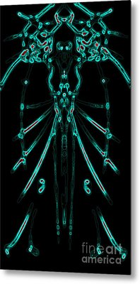 Metal Print featuring the digital art Instinct Color Variation 1 by Devin  Cogger