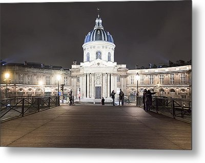 Institut De France - Parisian Night Scene Metal Print by Mark E Tisdale