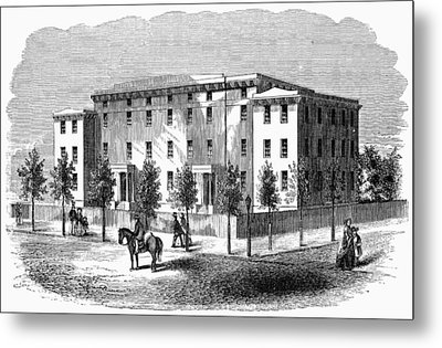 Institute For Blind, C1850 Metal Print by Granger