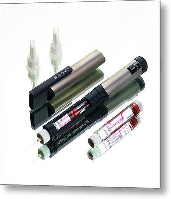 Insulin Pen Metal Print by Mark Sykes