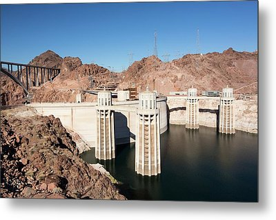 Intake Towers For The Hoover Dam Metal Print