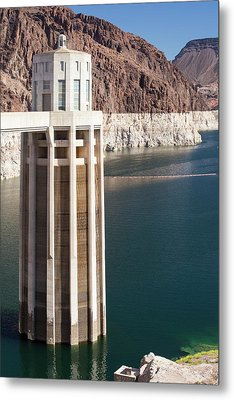 Intake Towers For The Hydro Plant Metal Print by Ashley Cooper