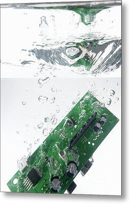 Integrated Circuit Underwater Metal Print by Sami Sarkis