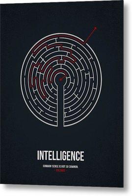 Intelligence Metal Print