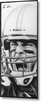 Intensity Tom Brady Metal Print