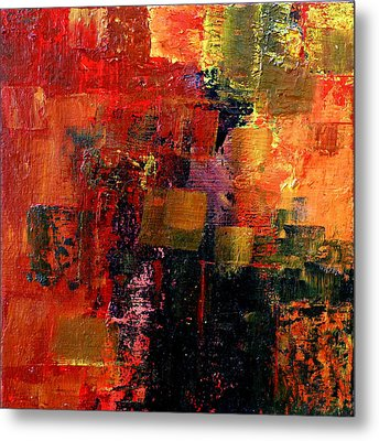 Metal Print featuring the painting Interaction by Jim Whalen
