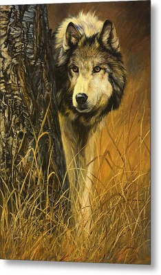 Interested Metal Print by Lucie Bilodeau