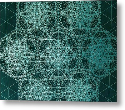 Metal Print featuring the drawing Interference by Jason Padgett