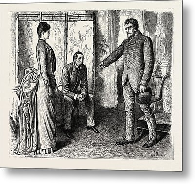 Interior, 1888 Engraving Metal Print by Du Maurier, George L. (1834-97), English