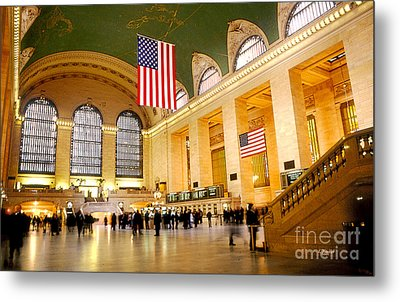Interior Grand Central Station Metal Print by Linda  Parker