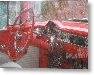 Interior Of A 1955 Masterpiece Metal Print by Kathy Peltomaa Lewis