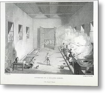 Interior Of A Boiling-house Metal Print by British Library