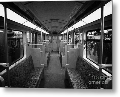 Interior Of A German U-bahn Train Berlin Germany Metal Print