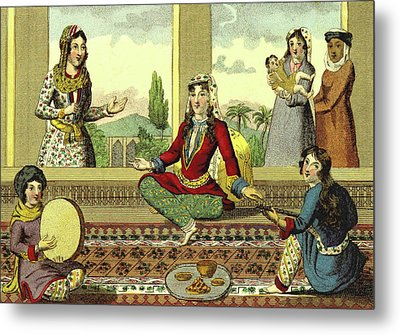 Interior Of A Harem Metal Print by Litz Collection