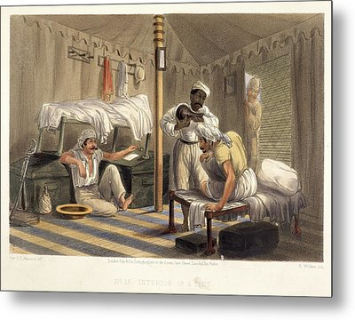 Interior Of A Tent Metal Print by British Library