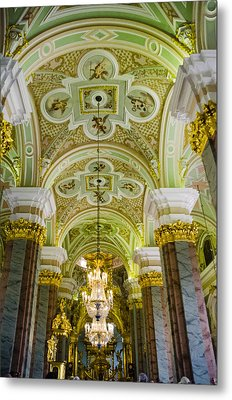 Interior Of Cathedral Of Saints Peter And Paul - St. Petersburg  Russia Metal Print by Jon Berghoff