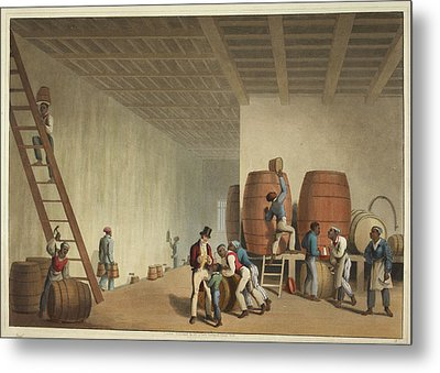 Interior Of Distillery Metal Print by British Library