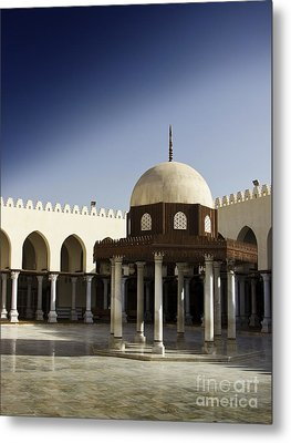 Metal Print featuring the photograph Interior Of Islamic Mosque by Mohamed Elkhamisy