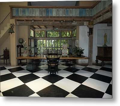 Interior Of Main House At Lunuganga Metal Print by Panoramic Images