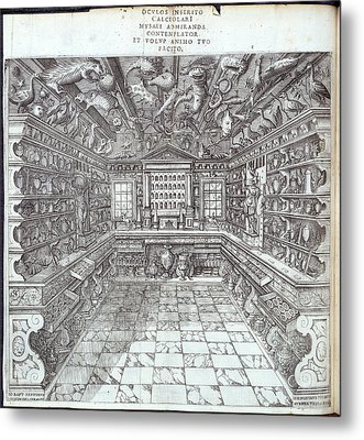 Interior Of Museum Metal Print by British Library