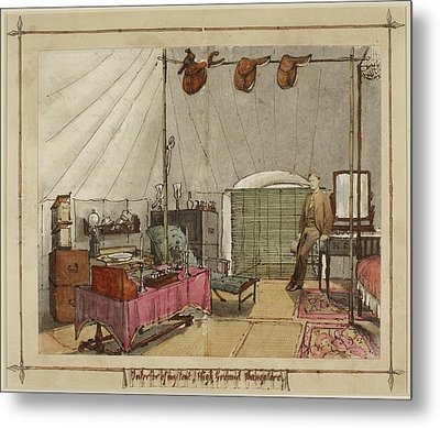 Interior Of My Tent Metal Print by British Library