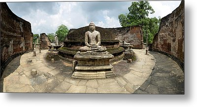 Interior Of Polonnaruwa Vatadage Metal Print by Panoramic Images