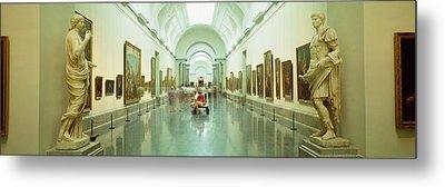 Interior Of Prado Museum, Madrid, Spain Metal Print