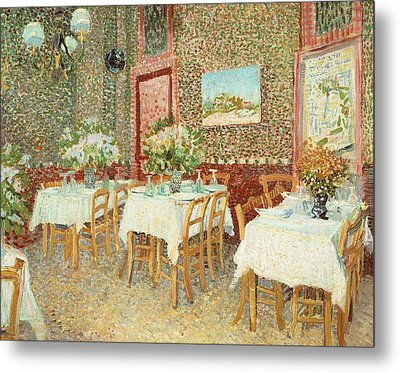 Interior Of Restaurant Metal Print by Vincent van Gogh