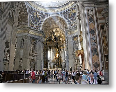 Interior Of St Peter's Dome. Vatican City. Rome. Lazio. Italy. Europe Metal Print