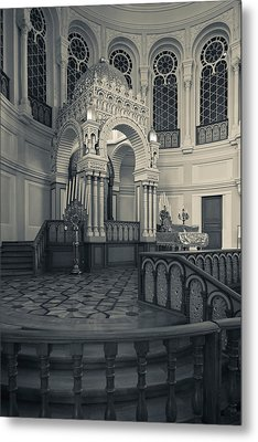 Interior Of The Grand Choral Synagogue Metal Print