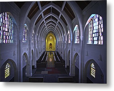 interior of the Monastery of the Holy Spirit Metal Print by Mark Rodriguez aka Godriguez