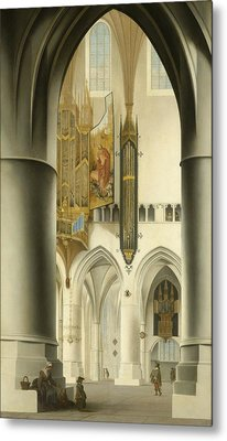 Interior Of The St. Bavo Church In Haarlem Metal Print