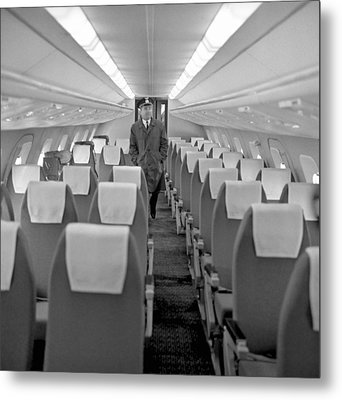 Interior Of Tu-144 Supersonic Airliner Metal Print by Science Photo Library