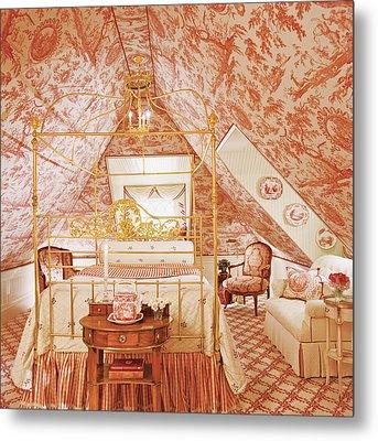 Interior Of Vintage Bedroom Metal Print by Durston Saylor