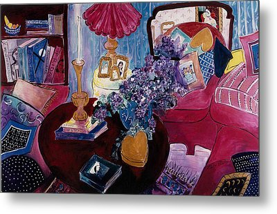 Interior With Picasso Metal Print by Elaine Elliott