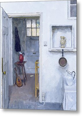 Interior With Red Jug Metal Print