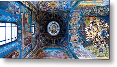 Interiors Of A Church, Church Of The Metal Print by Panoramic Images