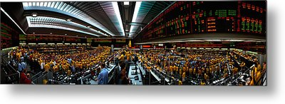 Interiors Of A Financial Office Metal Print by Panoramic Images