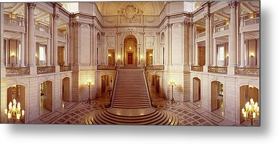Interiors Of A Government Building Metal Print