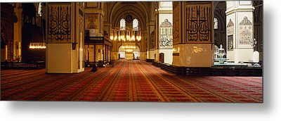 Interiors Of A Mosque, Ulu Camii Metal Print by Panoramic Images