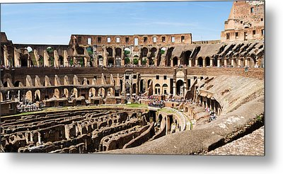 Interiors Of An Amphitheater, Coliseum Metal Print by Panoramic Images