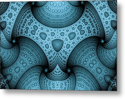 Interlocking Patterns Metal Print by Mark Eggleston