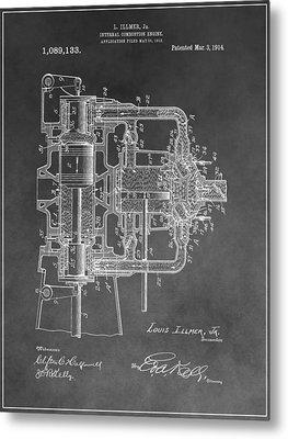 Internal Combustion Engine Metal Print