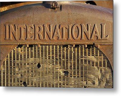 International Truck Emblem Metal Print