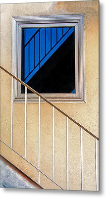 Intersection Of Real And Reflection  Metal Print by Gary Slawsky