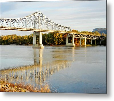 Interstate Bridge In Winona Metal Print