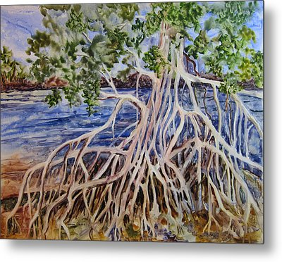 Metal Print featuring the painting Intertwined by Roxanne Tobaison