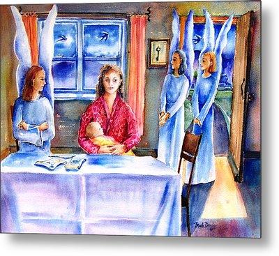 Interview For A Guardian Angel  Metal Print by Trudi Doyle