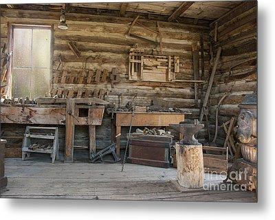 Interior Of Historic Pioneer Cabin Metal Print by Juli Scalzi